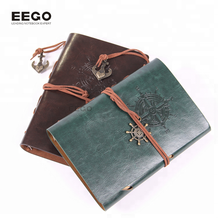 2018 New arrivals refillable leather journal cover field notes elastic book closure,kraft notebook unlined