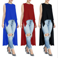Womens High Low Asymmetrical sleeveless Tops dress