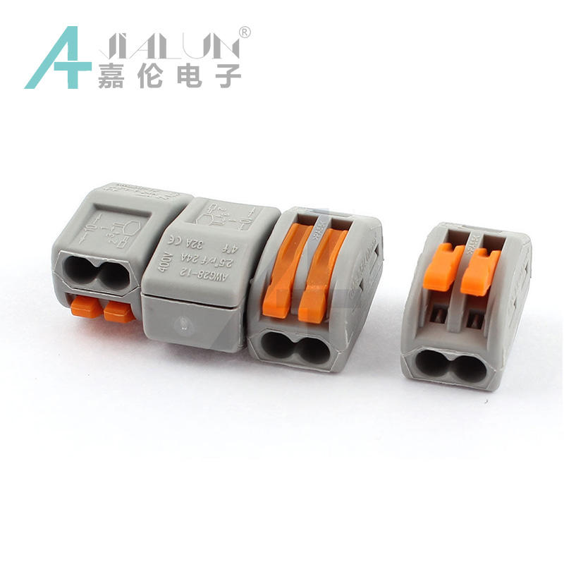 JIALUN PCT-212 2pin PA66 Push-In wiring Connector Terminal Block Connector