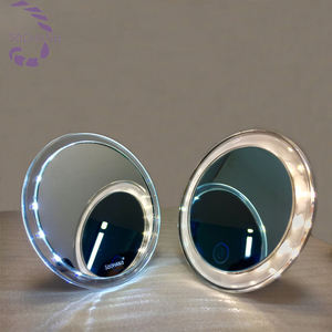pocket lighting mirror foldable portable led mirror makeup mirror with different light color