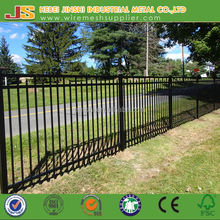 Powder coated black wrought iron decoration fence for garden ornament