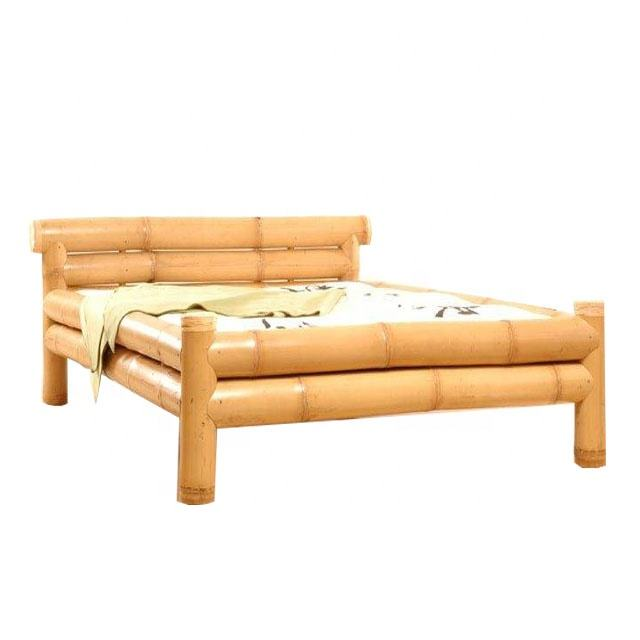 High quality beautiful furniture bamboo bed custom support