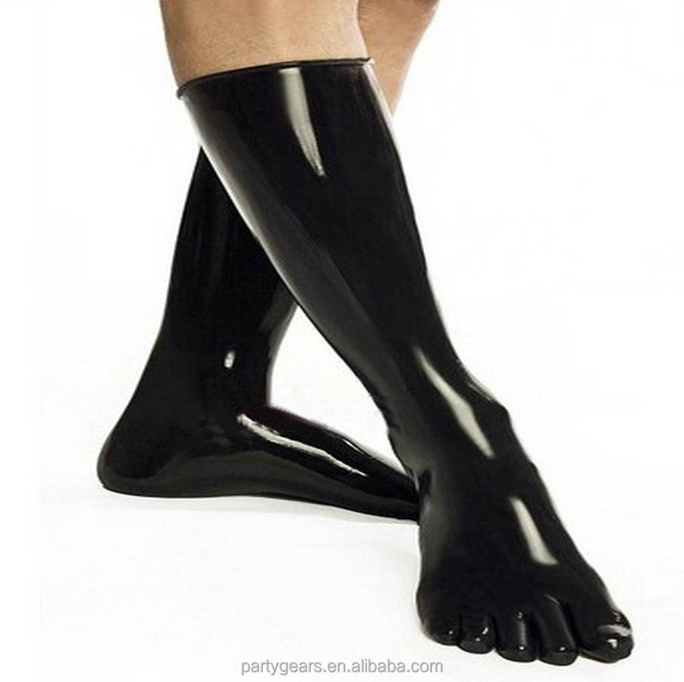 Sexy Women fetish latex stockings with 5 toes rubber fetish socks fingerstocks unisex clubwear Sexy Costumes