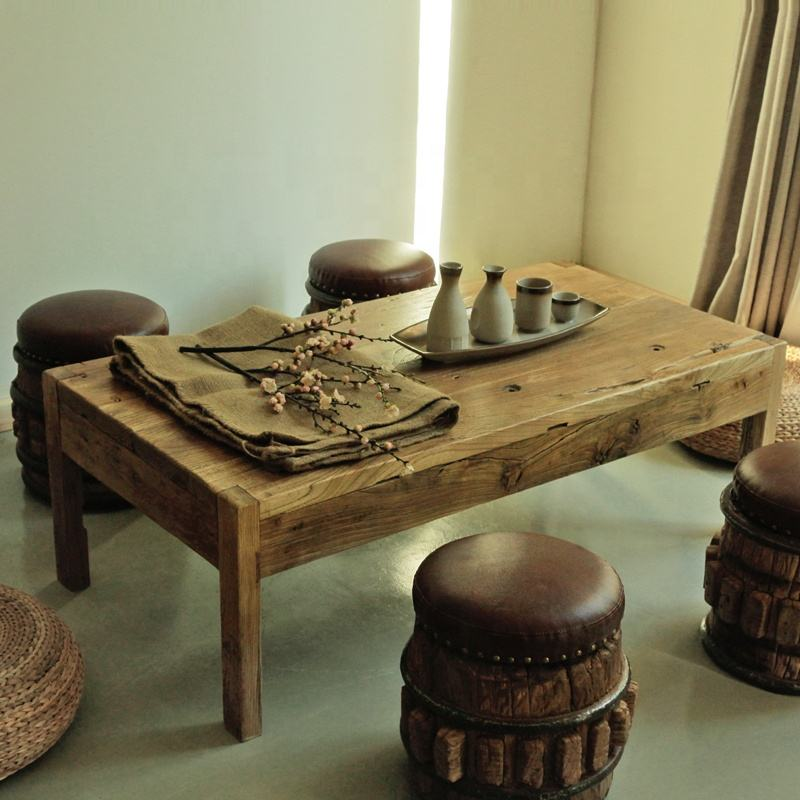 Ancient Age furniture reclaimed simple antique quality recycle wood tea table Chinese rustic coffee table