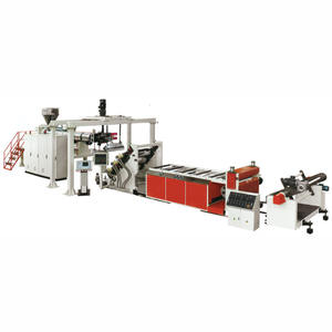 plastic PET sheet manufacturing extrusion production making machine extruder machinery line