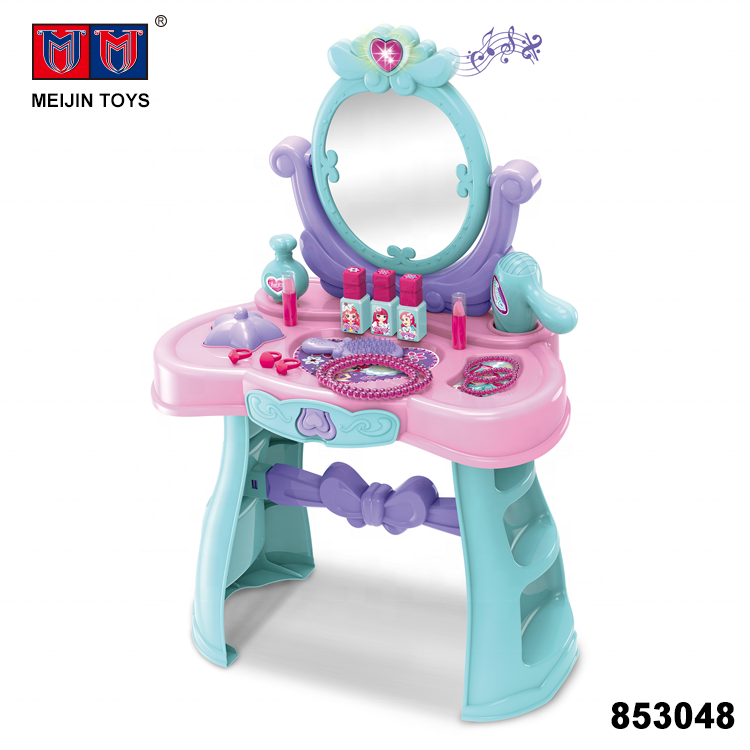 new fashion girl kids dressing table toy with light sound