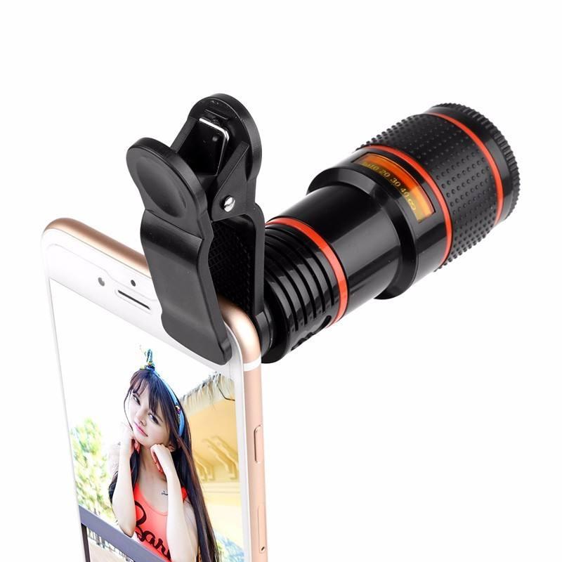 Alibaba üzerinde 2018 best seller Evrensel iPhone Samsung Kamera için 12X Cep Telefonu Teleskop Optik Zoom Lens