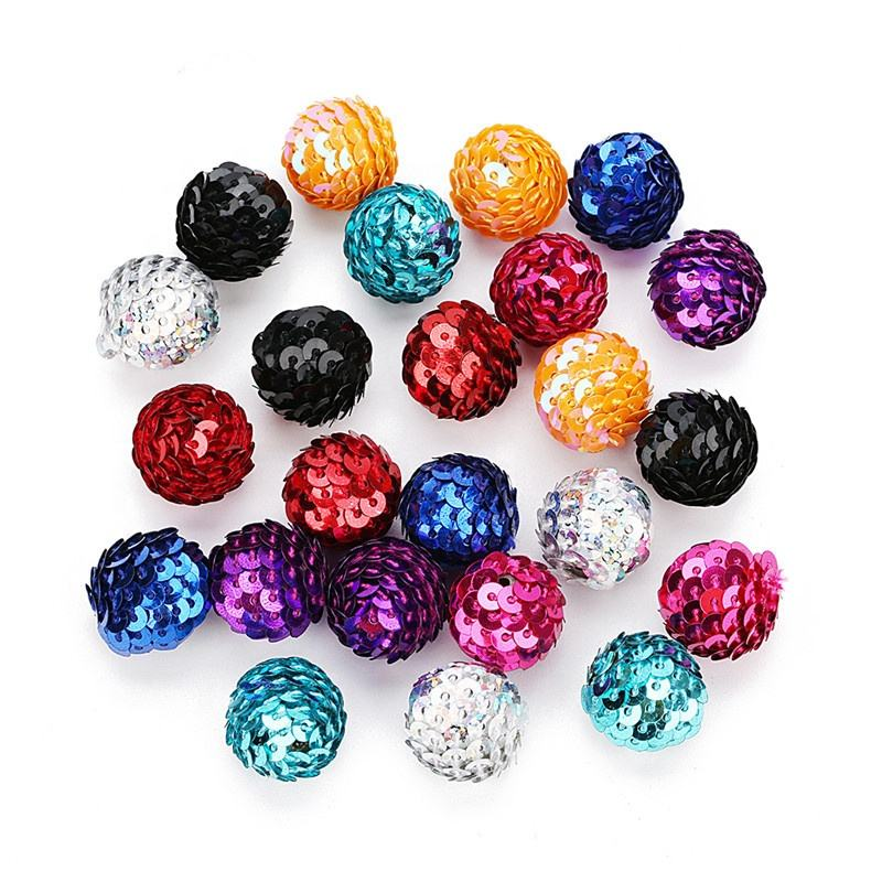 Mix Colorful Loose Sequins Round Beads For Jewelry Making Bracelet Charms Handmade DIY Paillettes Beads