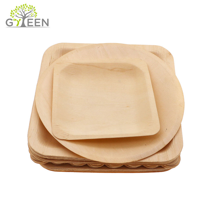 Pizza Dinner Tableware One Time Use Plate Round Wooden Dishes & Plates Natural Free Samples