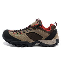 2017 latest design leather brand trekking sports shoes for men