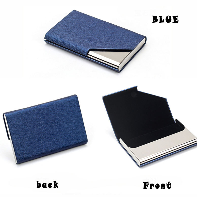 Top quality custom logo new design business card holder leather