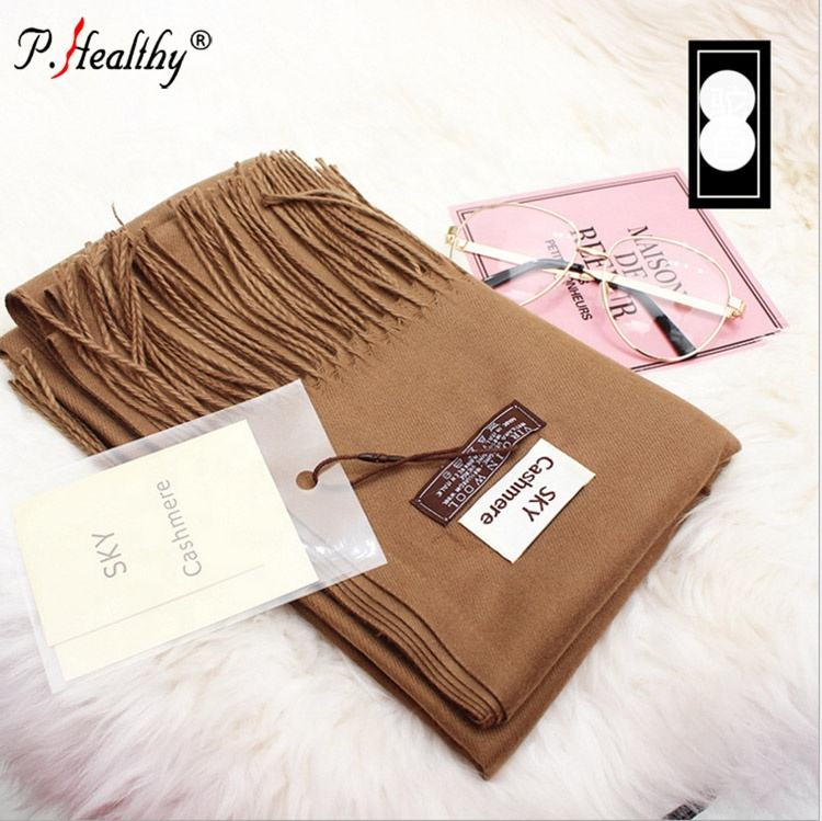 factory customized supply lady plain color tassels fall winter scarfs