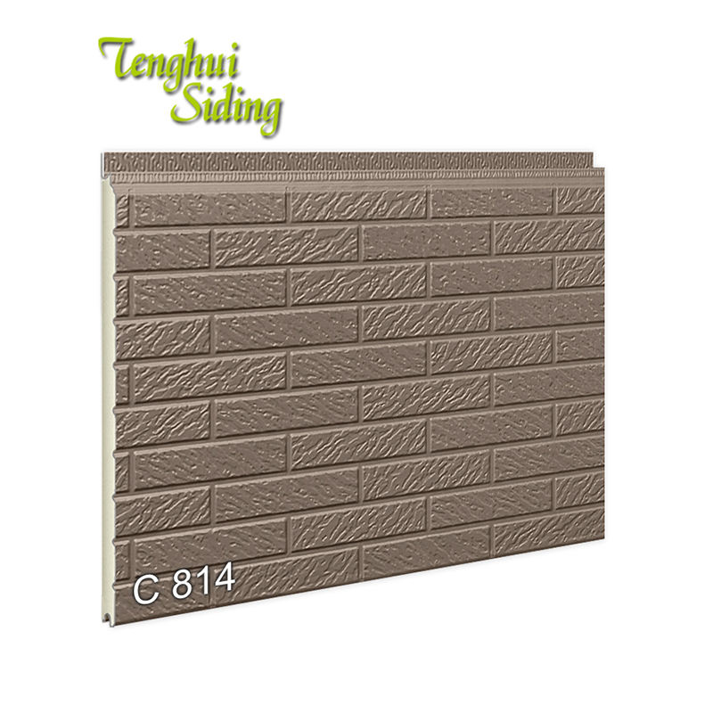 Fireproof Polyurethane Foam Brick Sandwich Panel For Prefabricated House