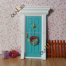 Dollhouse Miniature Accessories Wooden Tooth Fairy Door Crafts Toys 1:12 Scale QW60203