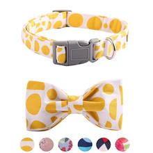 Top selling amazon pet accessories adjustable cat collar bowtie dog collar  with plastic buckles