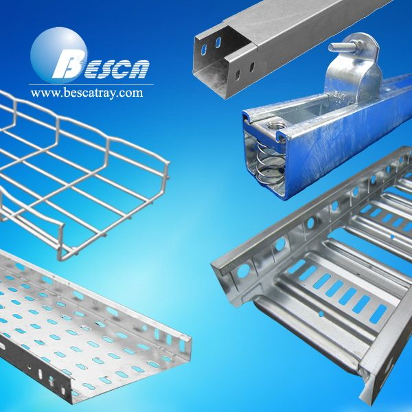 Cable Tray Steel Wire Mesh Cable Tray Perforated Ladder Type Cable Tray