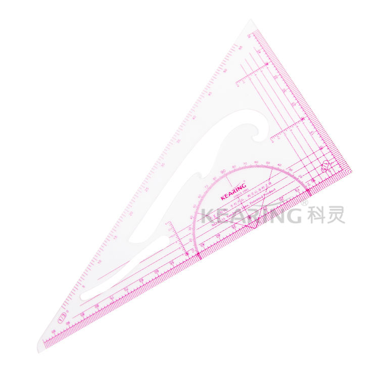 Kearing 1:3/1:4/1:5 triangle scale ruler with sandwich line printing