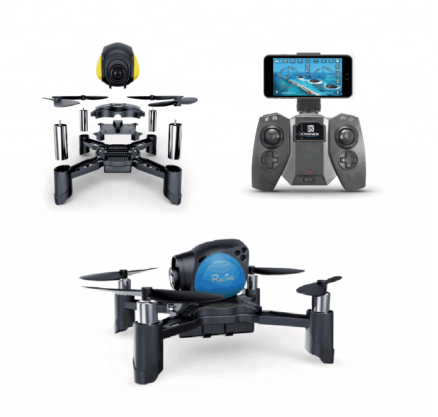 RC Jouets KIT Mini Drone De Course 2.4Ghz Nano <span class=keywords><strong>LED</strong></span> RC Quadricoptère D'altitude Tenir <span class=keywords><strong>DIY</strong></span>