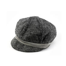High grade certified factory supply panel crochet custom newsboy military gray color wool baby hat