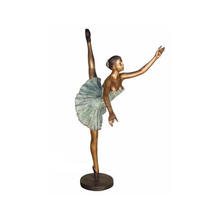 Interior Little Antique Bronze Brass Ballerina Sculpture