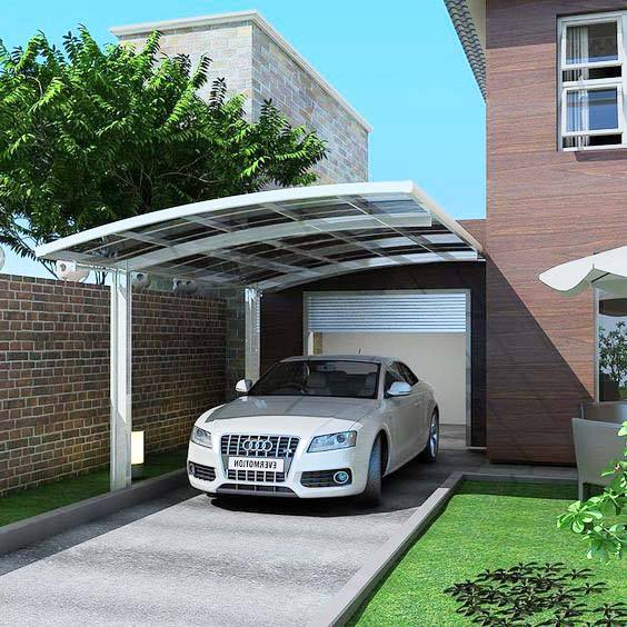 Factory Supplier Hangmei Aluminum Car Parking Canopies and Carport Polycarbonate Sheet Roofing