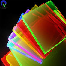 100% Virgin Fluorescent Clear and Colors Cast Acrylic Glitter Board
