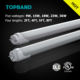RCM SAA C-Tick Australia 130lm/W 1.5m robatable T8 23W LED tube light
