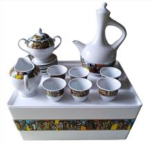 Ready to ship popular ethiopian coffee set with rekebot saba arts for ceremony