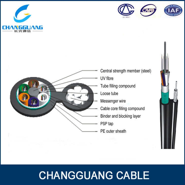 Alta calidad exterior GYTC8A lucent cable de fibra óptica