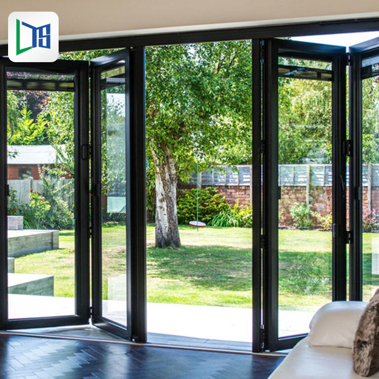 house residential double aluminum entry bi folding sliding doors design aluminium glass double entry doors and windows