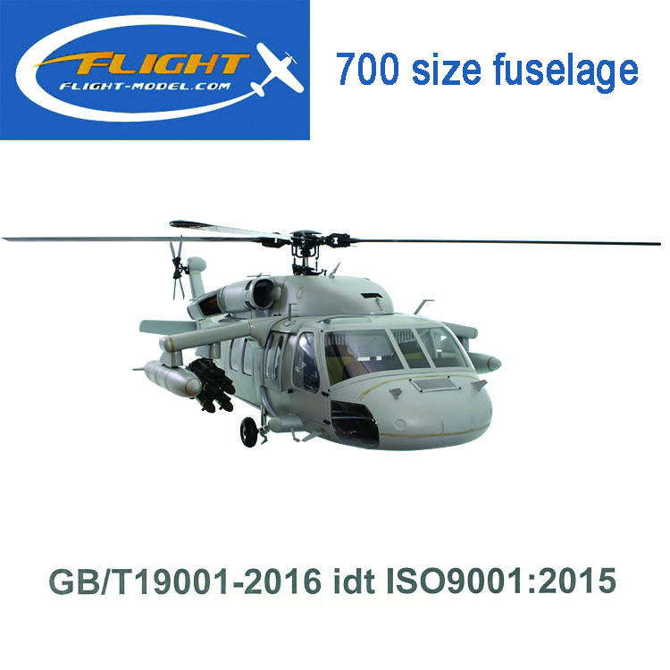 Schaal glasvezel 700 size UH-60 RC Helikopter Romp Helikopter MODEL