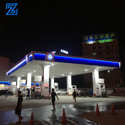 Modern petrol station design space frame tank gauge petrol station