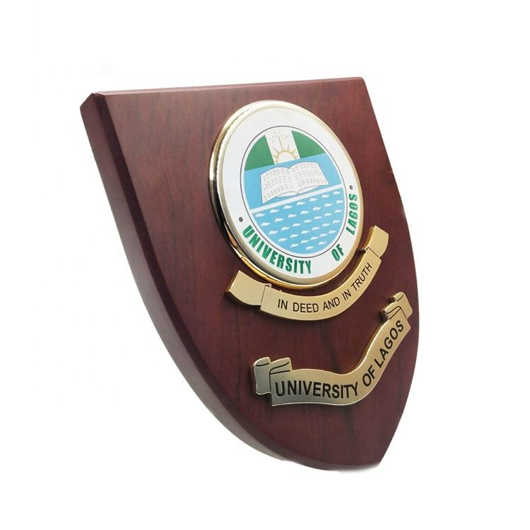 Shield Custom Wooden Trophy Wood Award Plaque with Wooden Box