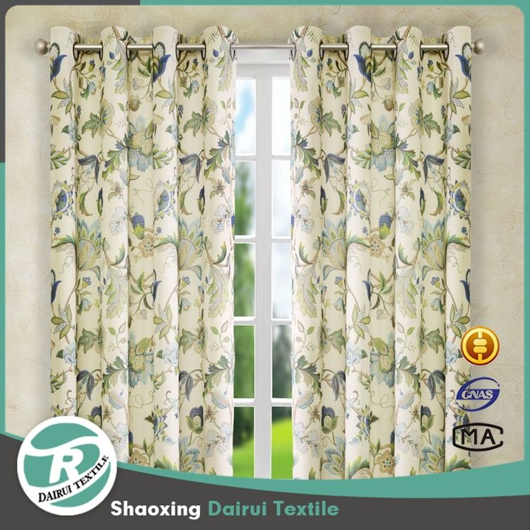 China suppliers home textile/new arrival design spring flowers printed curtain