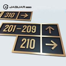 Manufacturer Custom Brass Stainless Steel Plates Hotel Door Room Number