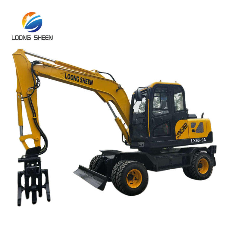 9 ton excavator machine wheel hydraulic excavator for sale
