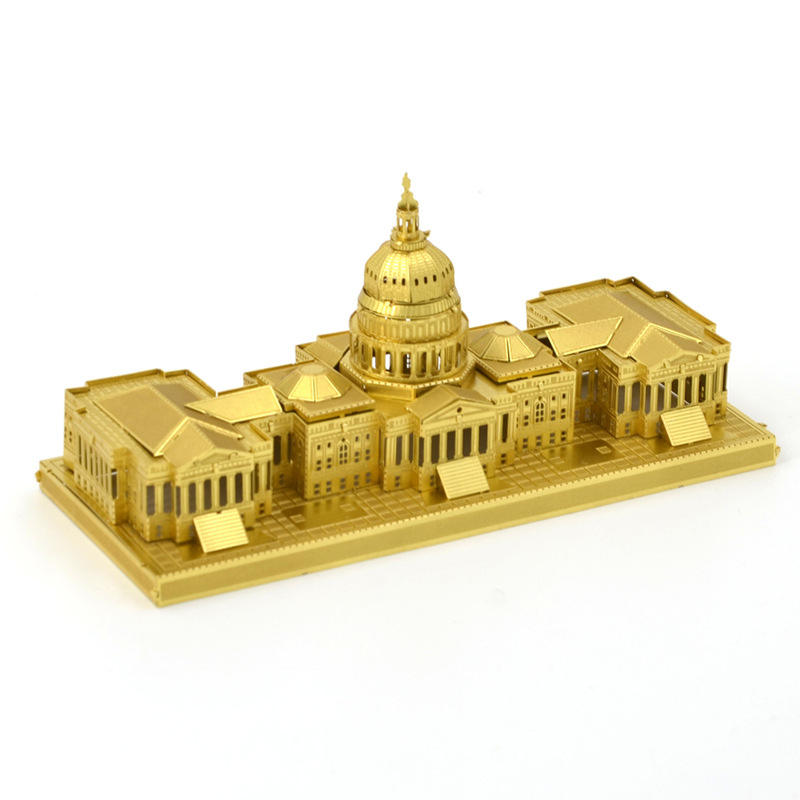 Educational Toys Golden Brass United States Congress 3D Metal Puzzle Magnetic 3d Jigsaw Puzzles
