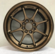 15 inch wheel with PCD4x100 bronze designs ET35 production alloy wheel China