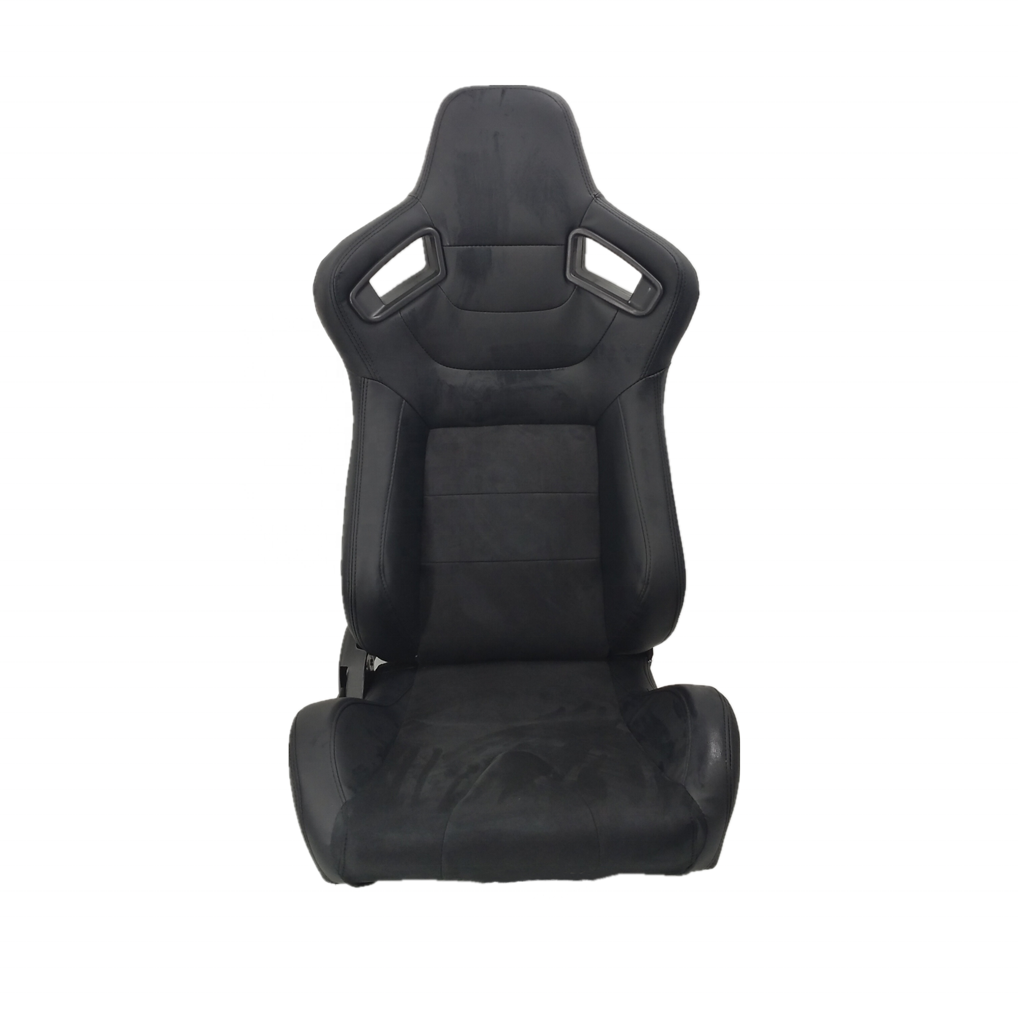 High Quality Black PVC Leather And Suede Racing Seat Black Stitch With Rails Bucket Seats For Racing Car
