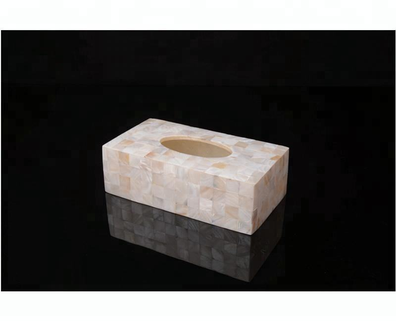 Rectangular shell tissue paper box holder