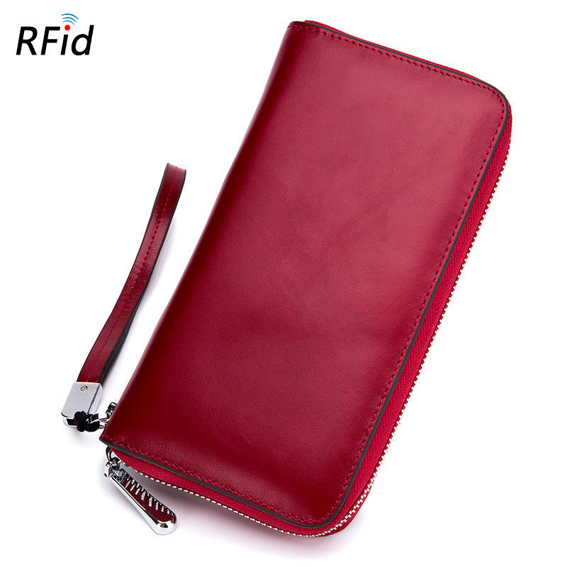 Business Long Real Leather Soft Wallet with Factory Price
