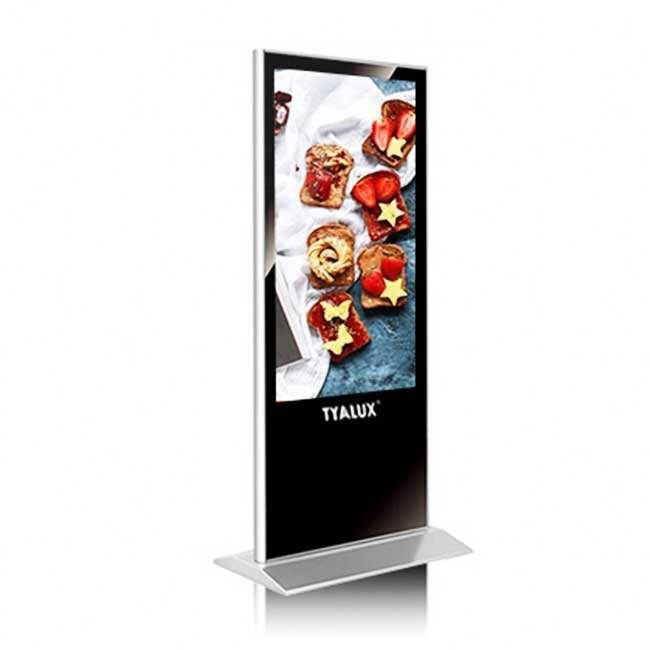 43 55 Inch Kiosk Advertising 4k Lcd Player Floor Stand Totem Digital Signage