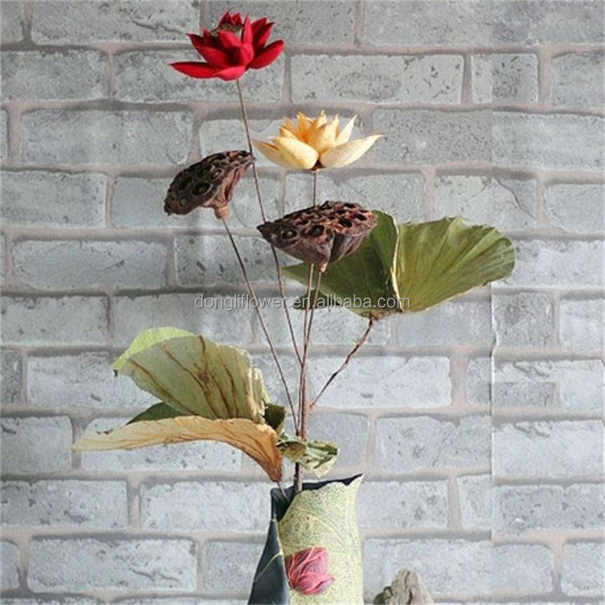 Dried natural flower bouquet lotus flower christmas household