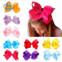 HBL61 Baby Girl Hairbow Hairpins Glitter Ribbon Bow Hair Clips alligator clips