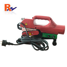 Hand hold electric powered hot wedge geomembrane welder