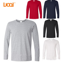 Men white cotton long sleeve t shirts plain