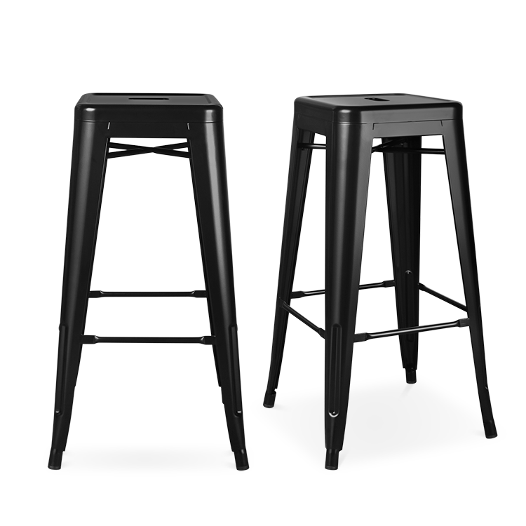 wholesale cheap italian design restaurant commercial industrial vintage antique iron black high metal bar stool