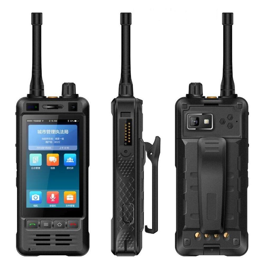 Walkie-Talkie PTT Android 6.0 Quad Core UHF 5000mAH Robuste Handy-Entdeckung W5