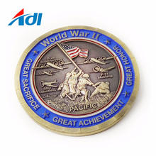 China wholesale custom military world war II souvenir round enamel coins