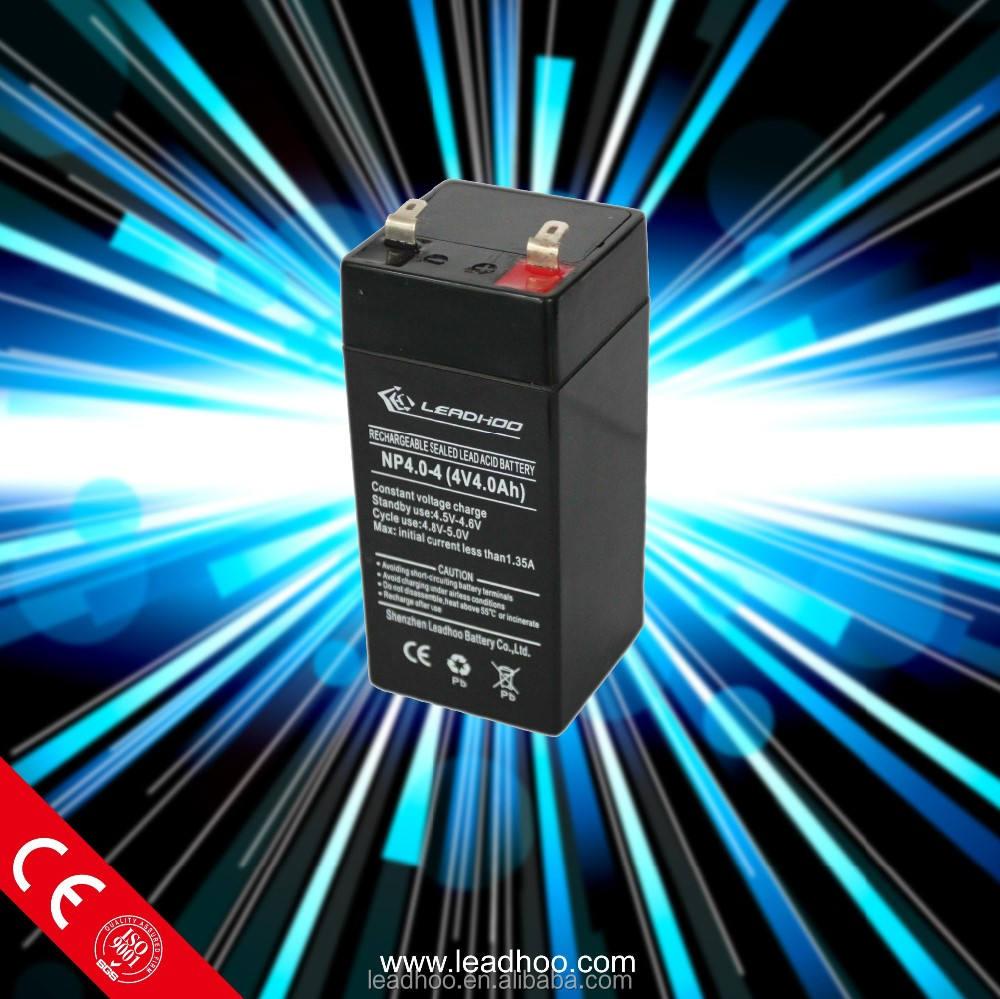 Lead acid battery suppliers 4V4AH 4V2.5AH VRLA 4V rechargeable battery